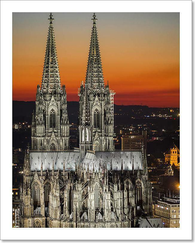 Cologne Cathedral At Sunset Art Print Home Decor Wall Art Poster - G