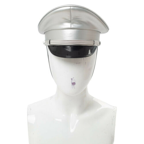 Bar Military Sercurity Captain PU Hat Stage Performance Cap Gift in 6 Colors