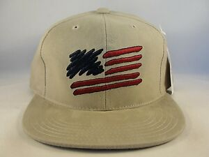 d18dc385cd8 Image is loading Kids-Youth-Size-American-Flag-Vintage-Snapback-Hat-
