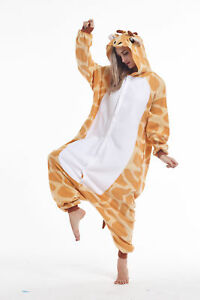 sqlszt Adult Unisex Kigurumi animal Grey Giraffe Onesie0 Pajamas Cosplay Costume