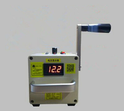 Hand Crank Generator Portable Power Supply Emergency Charger DC 5-25V output