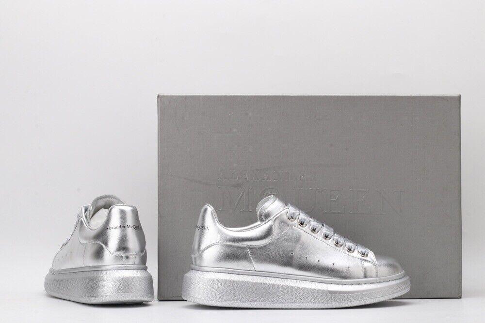 Alexander Mcqueen Scarpe Shoes Sneakers Grigio Grey Metal Nuove Con Scatola
