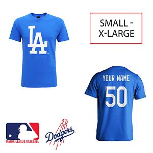 0356df09cdfd PERSONALISED LA Dodgers Adult Kids MLB T-Shirt Name Jersey Los ...