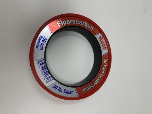Ande FCW30 Fluorocarbon 30# 50yd Saltwater Fishing Line Leader Spool