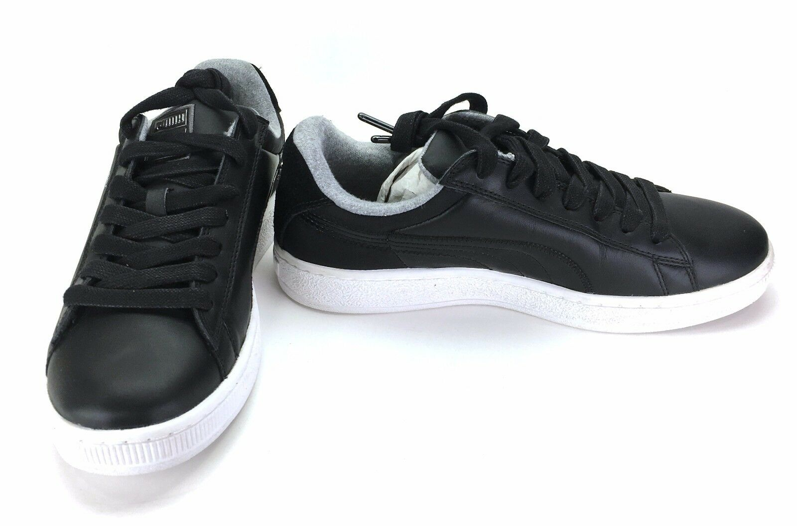 Puma Chaussures Basket RLS Retro Leather Noir/Blanc/ Gris  Sneakers