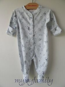 8b8f5137d3ad HANNA ANDERSSON Baby Organic Footed Sleeper Feet Aerial Blue 50 0-6 ...