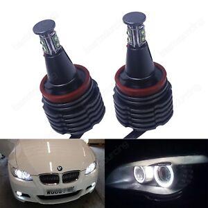 H8-80W-Xenon-LED-Angel-Eyes-Blanc-pour-BMW-E82-E87-E90-E92-E93-X1-X5-E70-X6-E71