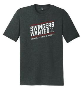 New-Stymie-Clothing-Co-034-Swingers-Wanted-034-Tri-Blend-Black-Frost-T-Shirt