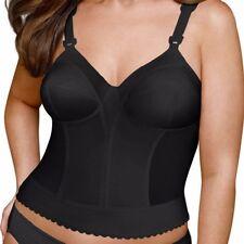 Exquisite Form Fully Women's Back Close Longline Bra #5107532 Black 42B