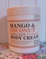 Creightons Mango & Coconut Ultra Rich Perfumed Body Cream 16 Oz Tub