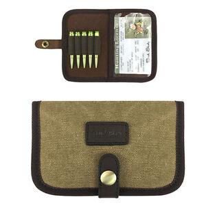 Tourbon-Rifle-Ammo-Holders-Cartridge-Purse-Pouch-Canvas-amp-Leather-Gun-Shell-Holder
