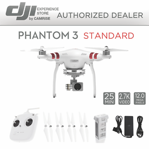 DJI Phantom 3 Standard Quadcopter Drone 2.7k Camera 3-Axis Gimbal...