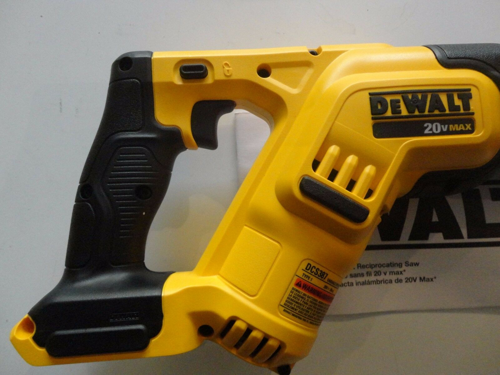 Dewalt dcs387b 20v reciprocating bare saw ebay greentooth Image collections