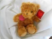 Walmart Wal Mart 9 Rust Tan Be Mine Key Plush Teddy Bear Brown