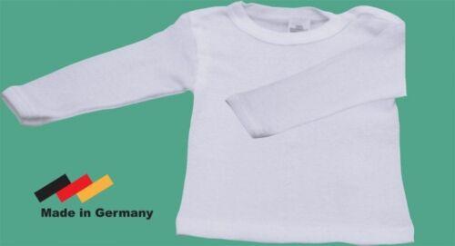 NEU Erslings-Hemd weiß Langarm 62 68 Baumwolle Unterhemd Shirt Hemdchen