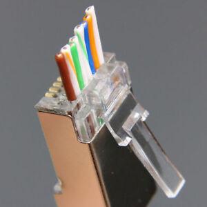 Super 100Pcs Ez Rj45 Connector Cat6 Network Connector Rj45 Plug Stp 8P8C Wiring Digital Resources Dimetprontobusorg