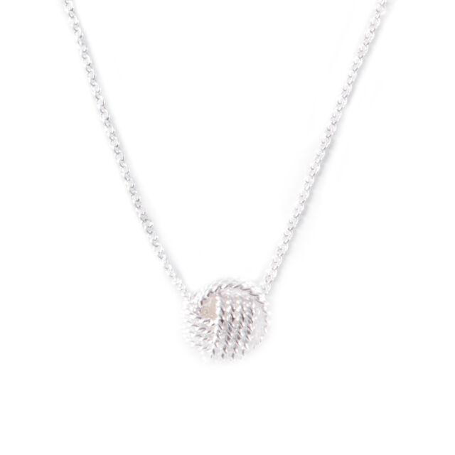 Tiffany Co Women S Sterling Silver Twist Knot Pendant Necklace