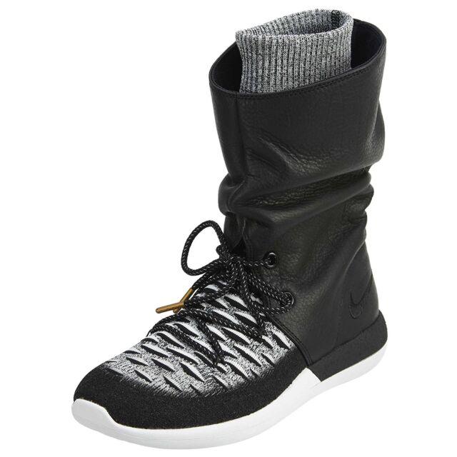 cfdfc2ce66a Women's Nike Roshe Two HI Flyknit Sneakerboot, 861708 002 Mult Sizes  Black/White