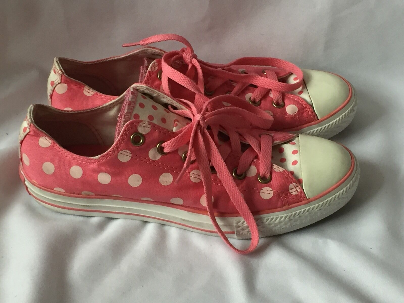 Converse All Star Baskets Rose Toile Taille UK 4