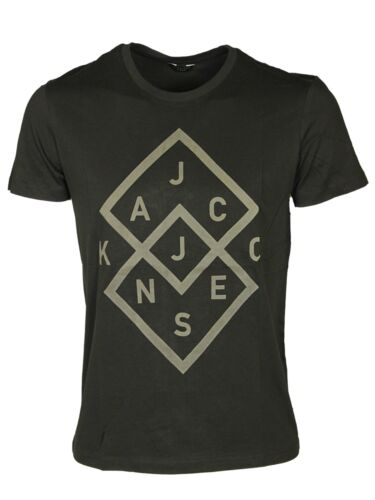 MENS BRAND NEW TSHIRT SHORT SLEEVE JACK /& JONES IN GREY BLACK WHITE DESIGNER TEE