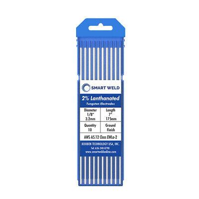"WL20 3//32/""-1//8/""  10-pk TIG Welding Tungsten Electrode 2/% Lanthanated Blue"