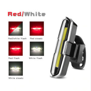 LED COB USB Rechargeable MTB Bike Bicycle Cycling Tail Rear Warning Light Lamp