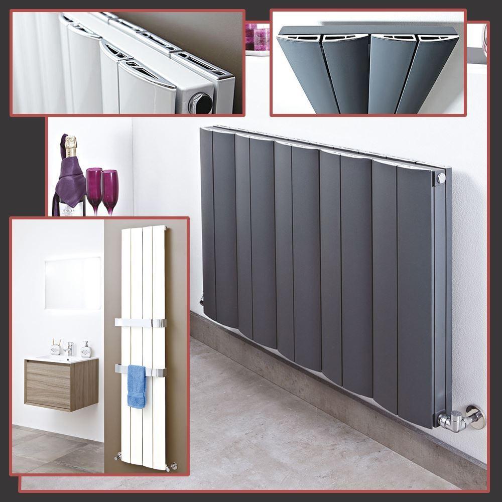 Wave  Diseñador verdeical & Horizontal radiadores de aluminio - 3 Colors y 10 Tamaños