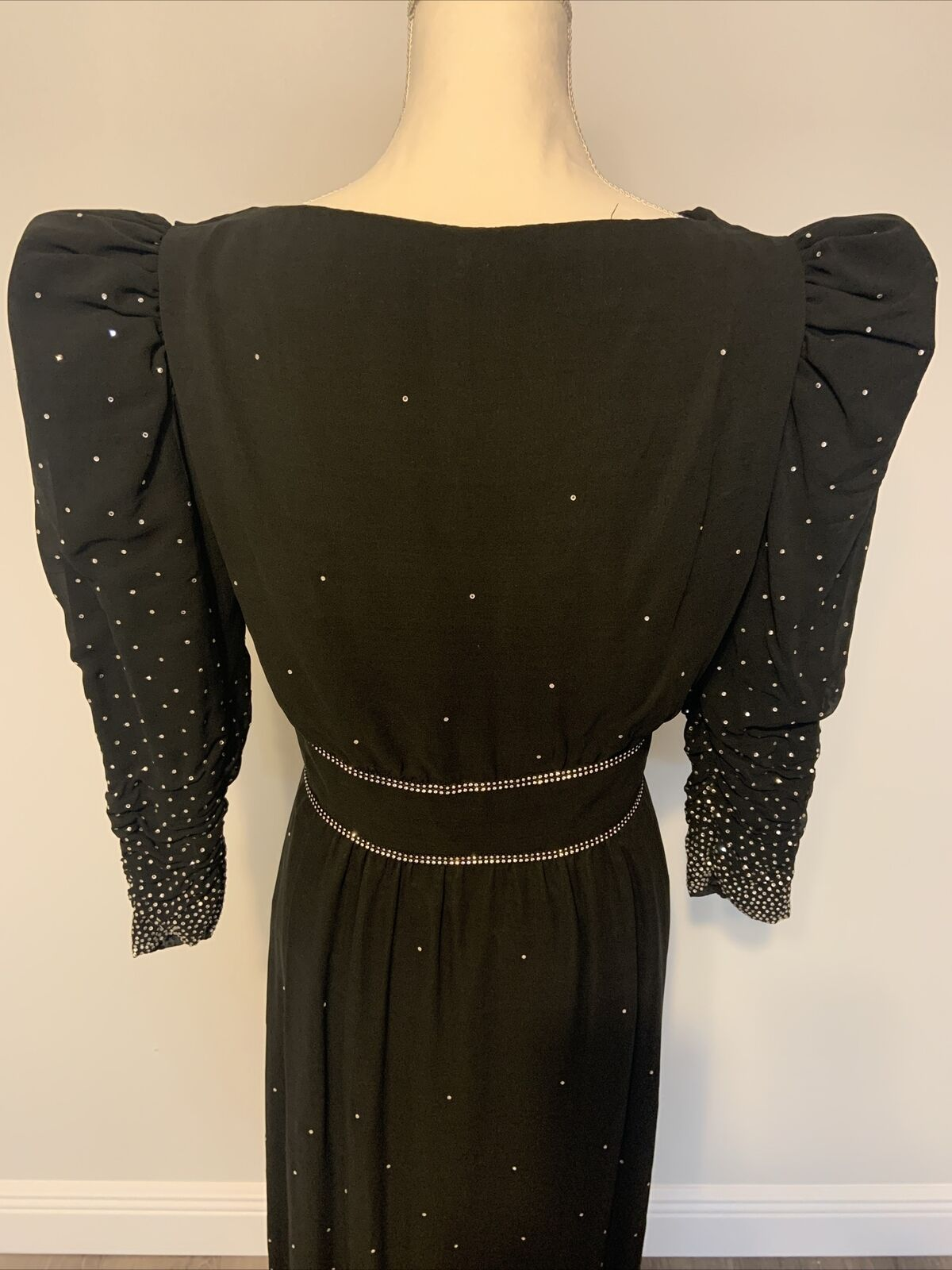 Arnold Scaasi Womens Vintage Couture Black Silk C… - image 6