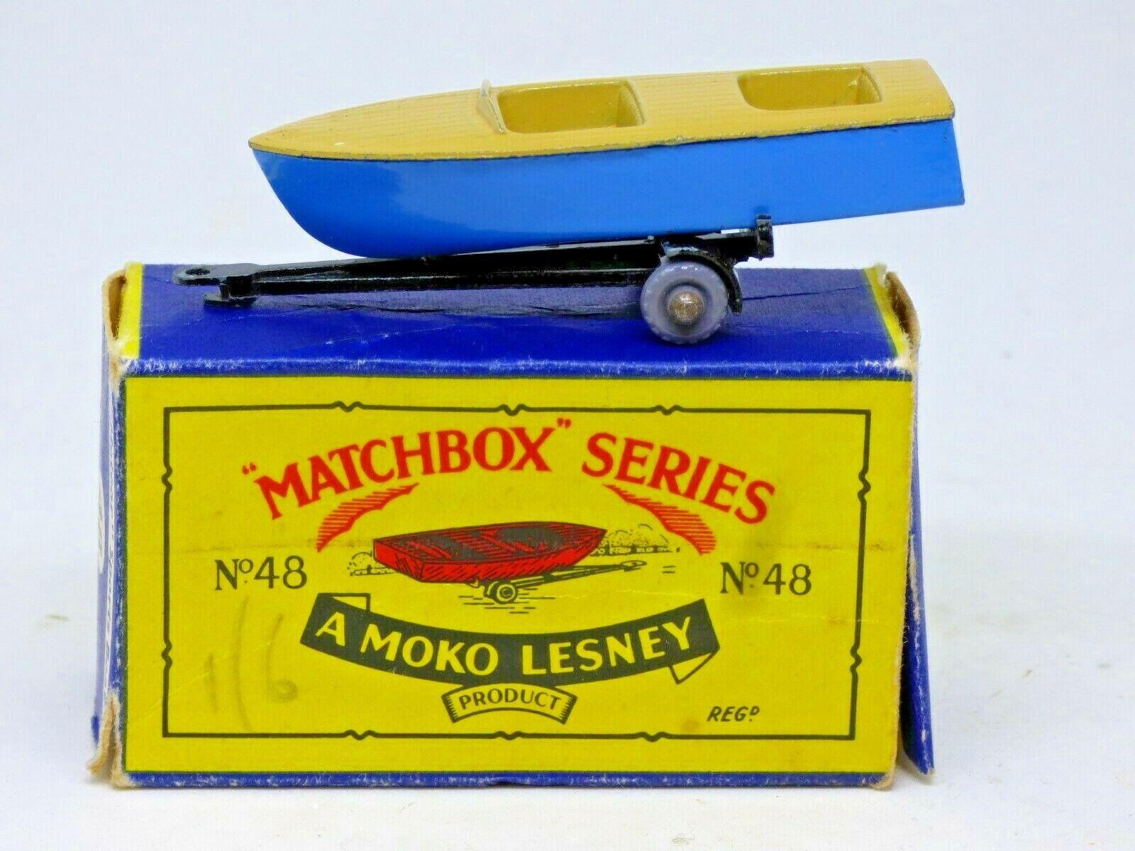 Matchbox Matchbox Matchbox Series Moko Lesney Meteor Sportsman MkII boat in original B4 box 0795d2