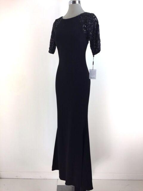 Calvin Klein Red Carpet Easy Fit Black Formal Dress Size 2 4 6 8 10