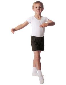 Roch Valley Chicos Algodón Lycra Estilo Tronco reglamento Danza Pantalones Cortos  </span>