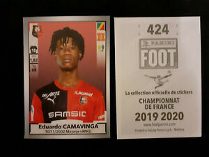 Eduardo-camavinga-rookie-424-sticker-panini-foot-2019-20-rennes-france-team