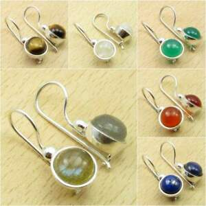 Many-Colors-925-Silver-Plated-BLUE-FIRE-LABRADORITE-amp-Other-Gemstone-Earrings