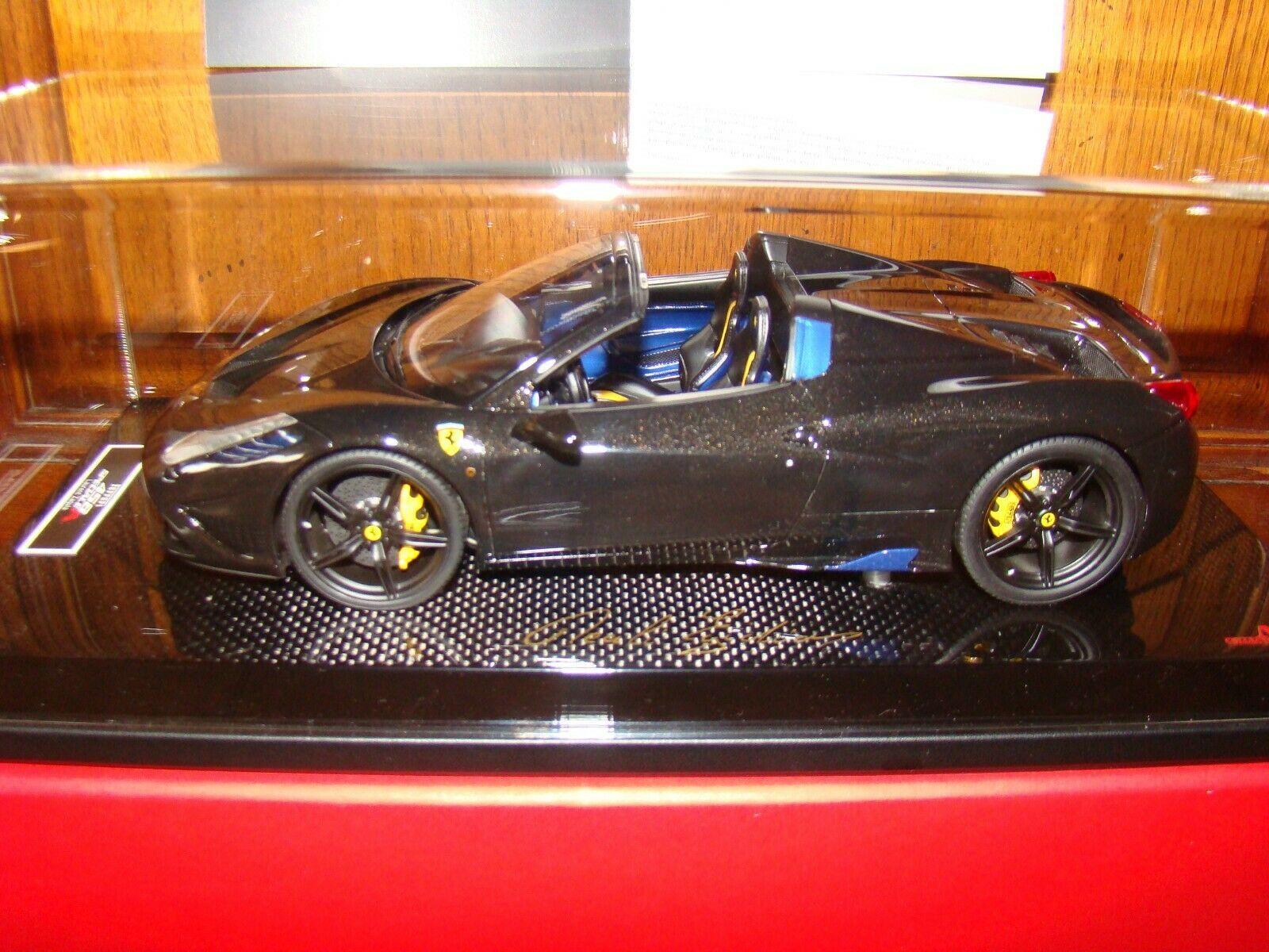FERRARI 458 SPECIALE APERTA   MR COLLECTION  negro DAYTONA MET. 1 18 EME  ONE OFF