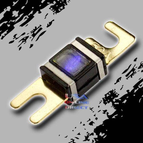 AFS//MIDI 200 AMP 6 pcs GOLD MINI ANL WAFER FUSES WITH LED LIGHT Car Marine