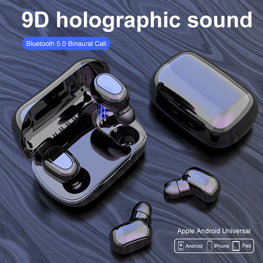 Bluetooth 5.0 Headset TWS Wireless Mini Earbuds Stereo Bass