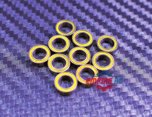 Tamiya 850 Rubber Sealed Ball Bearings YELLOW 5x8x2.5 MR85-2RS 5*8*2.5 10 PCS