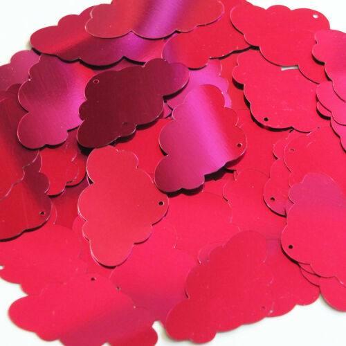 Fuchsia Pink Metallic Sequin Cloud 1.5 inch Couture Large Paillettes