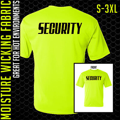 Safety Green ** S to 5XL ** Guard ** Uniforms Security T-Shirt ** Neon Yellow