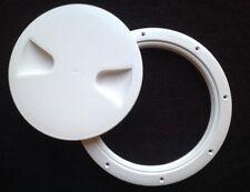 ROUND PLASTIC DECK INSPECTION LOCKER HATCH 260mm WHITE BOAT RIB         YACHT