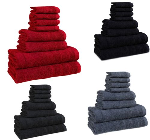 Towels Bale 4 Pc 8 pc Set Luxury Super Soft Cotton Face Hand Bath Sizes Bathroom