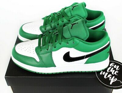 Competencia infinito Alegre  Nike Air Jordan 1 Retro Low Pine Green Black White UK 5 6 7 US New   eBay
