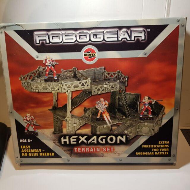 Airfix RoboGear Hexagon Terrain Set Plastic x1
