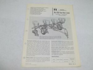 International-Harvester-No-430-Four-Row-Lister-Sales-Reference-Brochure
