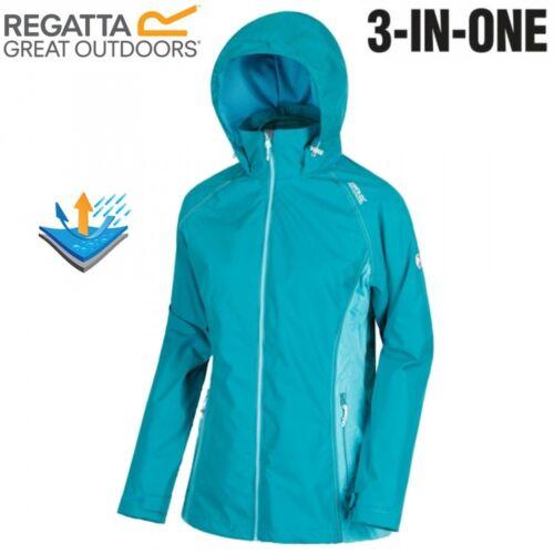 REGATTA WOMENS LADIES 3 IN 1 PREMILLA WATERPROOF COAT JACKET