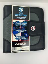 Case It Zipper Binder With Tab File O Ring 2 Inches Black