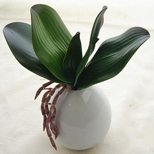 Grün Künstliche Orchidee Gras Blätter Kunstpflanzen Wohnkultur