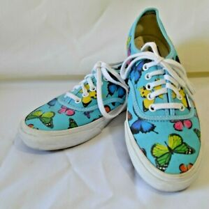 selected material sells online shop Details about Vans Off The Wall Blue Butterfly Shoes Mens 5 Womens 6.5