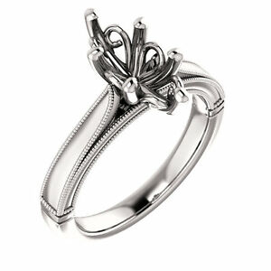 Image Is Loading Semi Mount Setting Cathedral White Gold Marquise Engagement