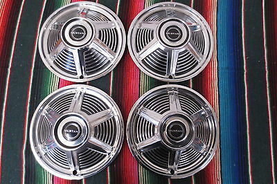 VINTAGE ORIGINAL 1960s FORD MUSTANG 13 INCH HUBCAPS WHEEL COVERS